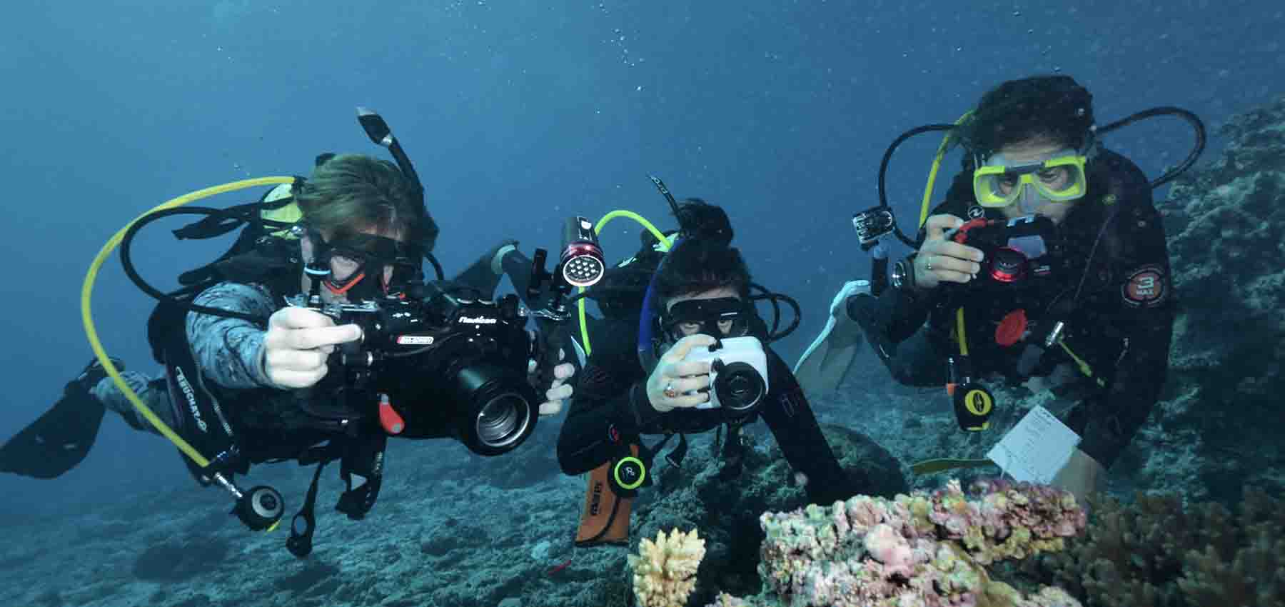 FrontierSI Virtual Reef Diver team underwater